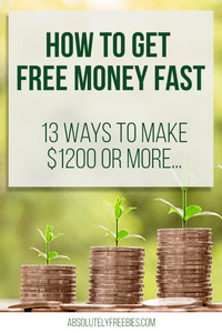Learn how to get free money fast with minimal effort in your spare time #freemoney #earnextracash #freemoneyhacks #moneymakingwebsites
