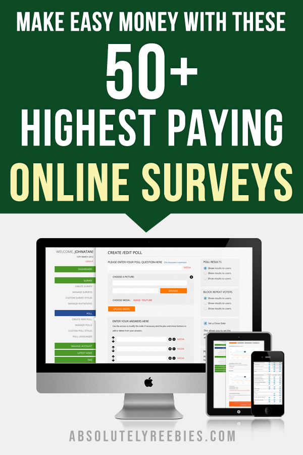Highest Paying Online Surveys For Cash - Absolutely Freebies