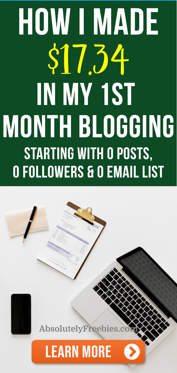 My first month blogging income report. Find out how I made money in my first month blogging. #incomereport #firstmonthbloggingincome #makemoneyonline #blogging