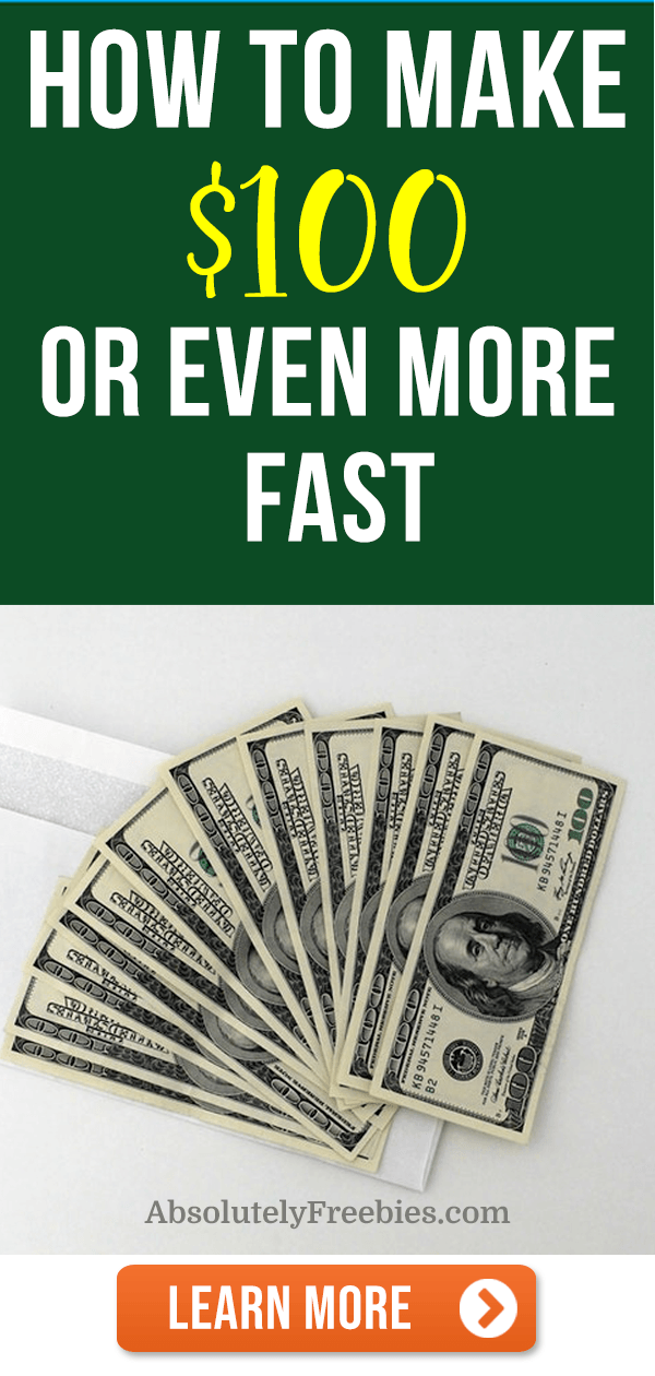 Discover the best ways how to make $100 dollars fast today. These 21+ money making ideas may be enough to cover any unexpected expenses and bills you have. #make100dollars #100dollars #sidehustles #makemoneyfast
