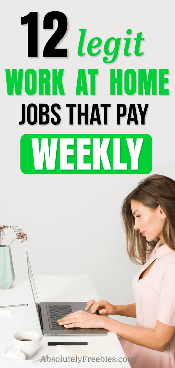 Secrets to work at home jobs that pay weekly and well. Suitable for moms, parents or disable person. Do these legit online jobs as a side-hustle even full time to make extra money, #extramoney #workfromhome #sidehustle