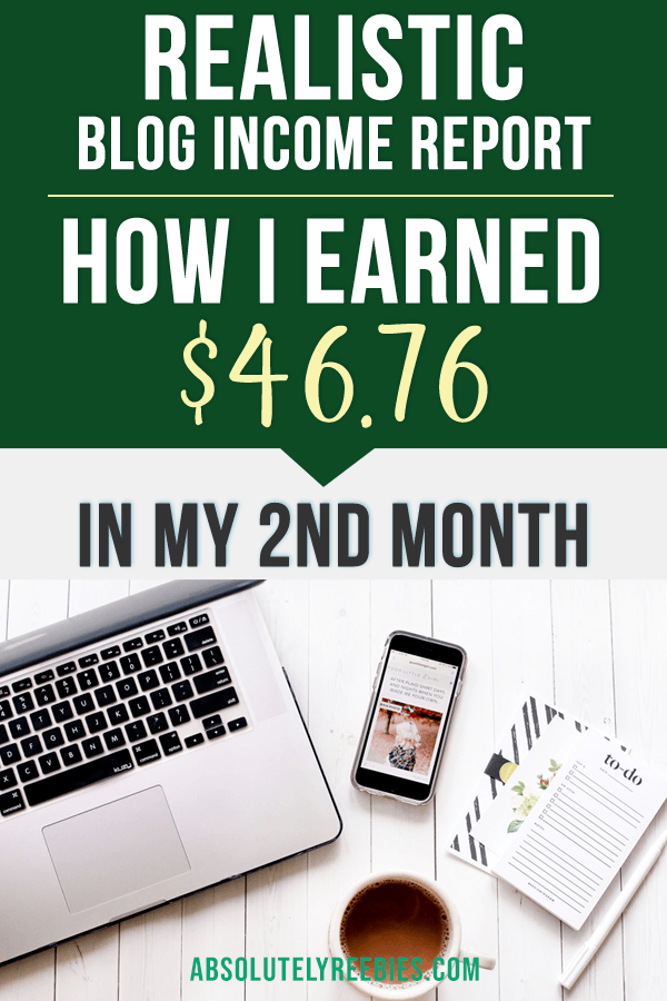 My second month blogging income report. Find out how I made money in my second month blogging. #incomereport #secondmonthbloggingincome #makemoneyonline #blogging