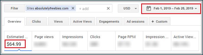 AdSense blogging income