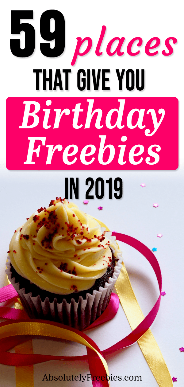I've rounded up the best 2019 birthday freebies from retailers and restaurants that offer offer free food to gifts and discounts.  Make your birthday fun and memorable. Get free  birthday stuff now.  #birthdayfreebies #freebirthdaystuff