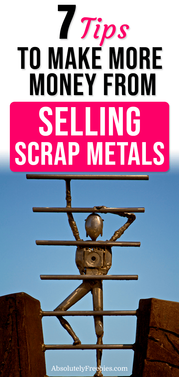 If you're looking for a scrap yard near me to sell metal, check out these 7 tips to help you get the most money from your scrap metal. #makemoneysellingscrap #sidehustle #scrapyard