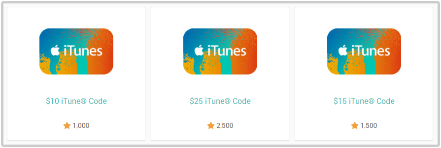iTunes money