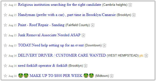 How to find cash jobs on Craigslist