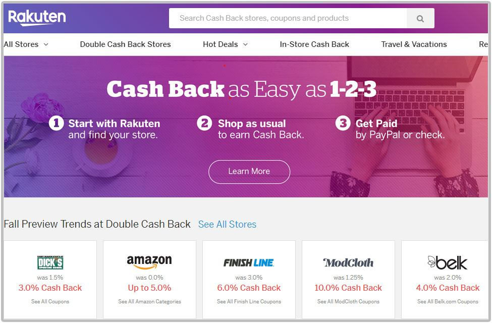 Best cashback app for shopping with Rakuten