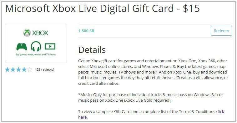 Swagbucks xbox gift cards